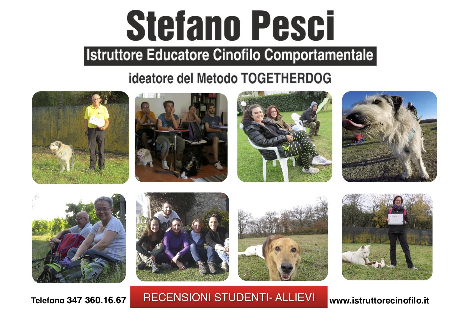 Recensioni studenti allievi - Stefano Pesci Istruttore Cinofilo Comportamentale