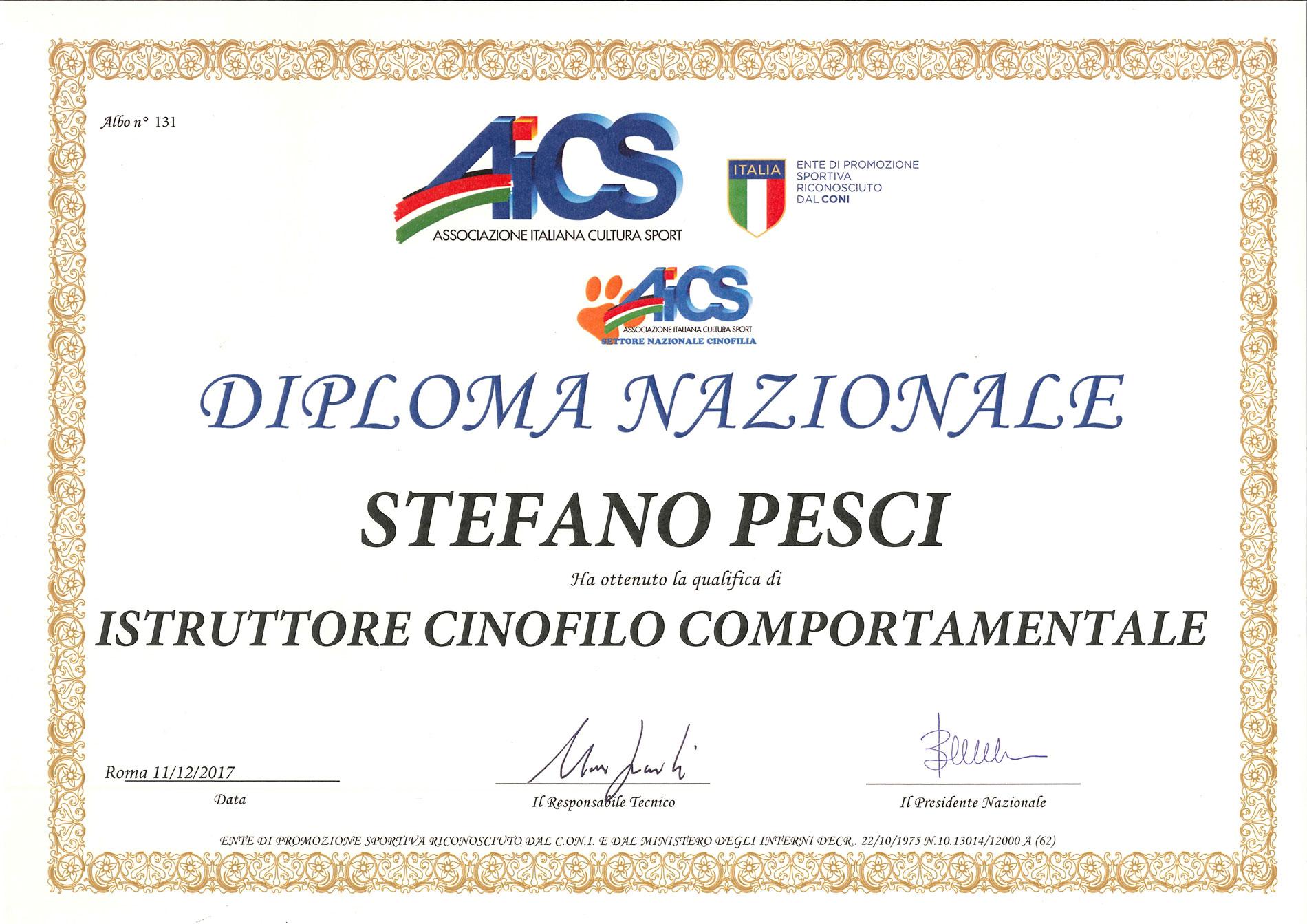 \isytruttore Cinofilo Comportamentale - Stefano Pesci